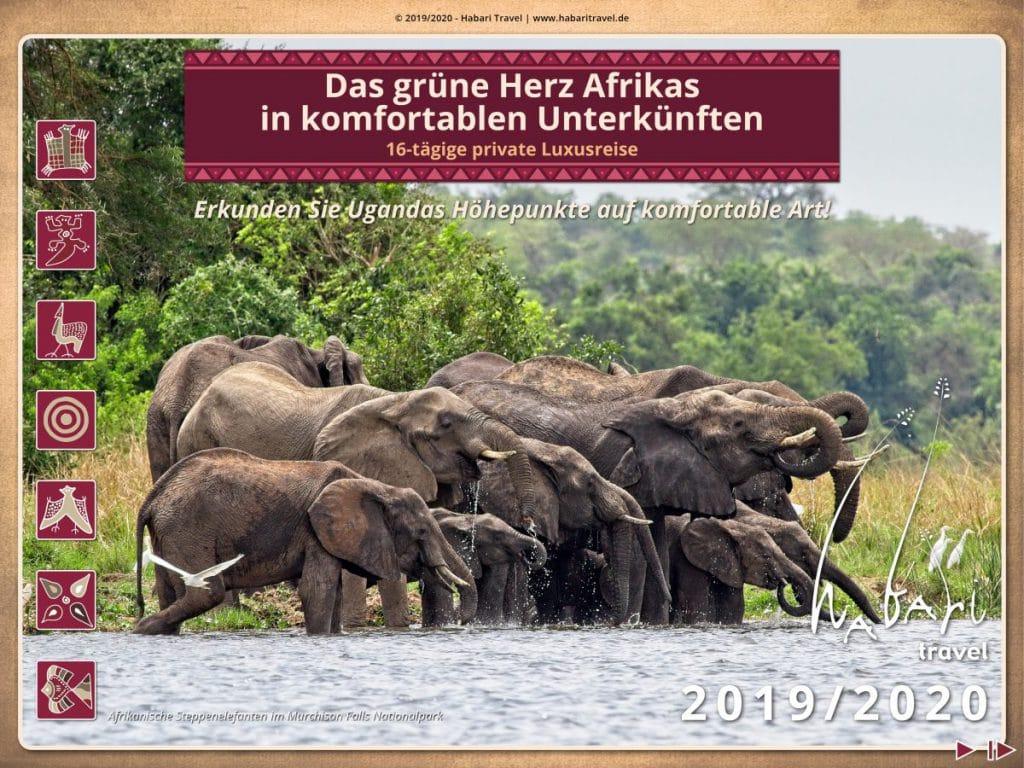 Broschüre Luxusreise durch Uganda