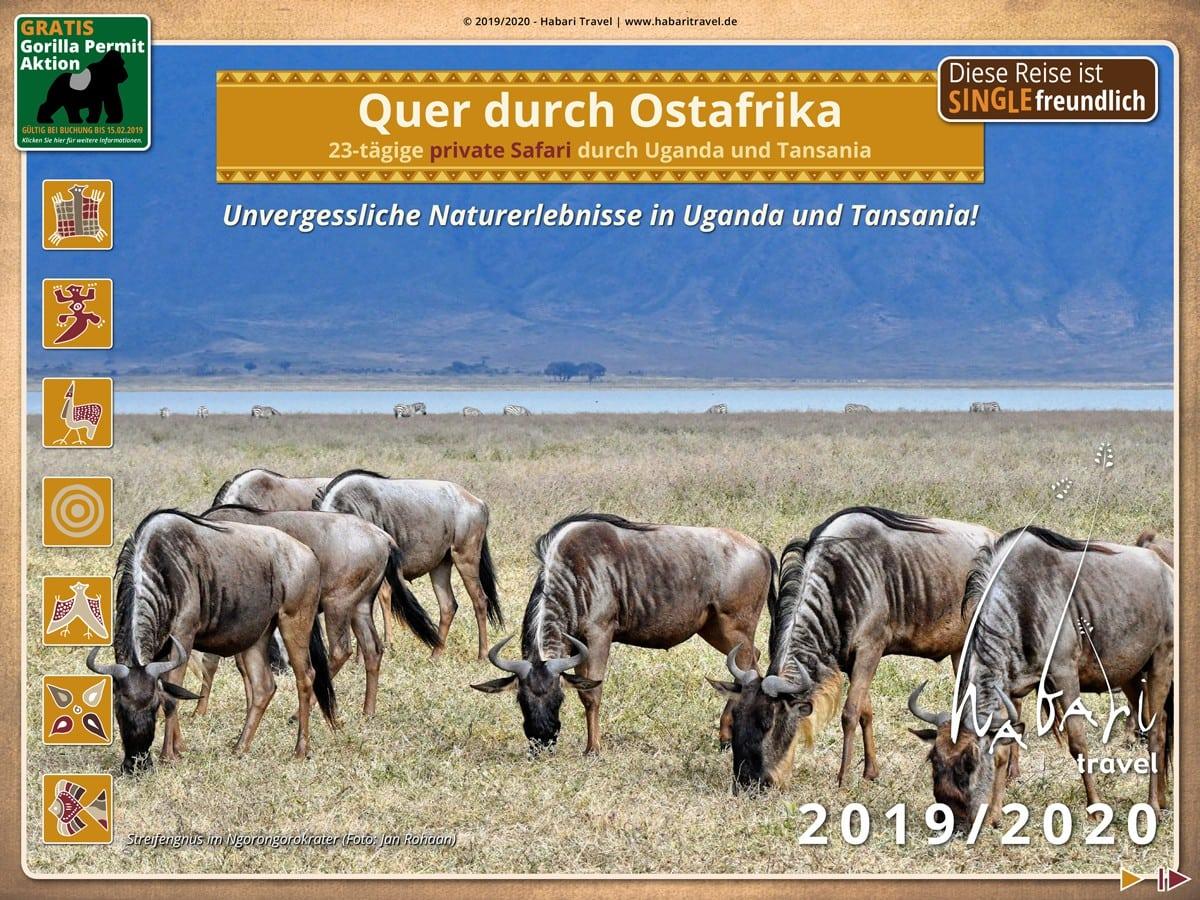 Broschüre Quer durch Ostafrika