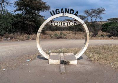 Äquator-Überquerung kurz vor dem Queen Elizabeth Nationalpark