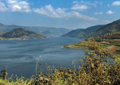 Aussicht auf den Lake Bunyonyi