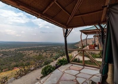 Aussicht vom Eagles Nest auf den Lake Mburo Nationalpark