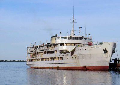 Die Fähre MV Victoria, die viele Jahre Passagiere sicher über den Viktoriasee gebracht hat