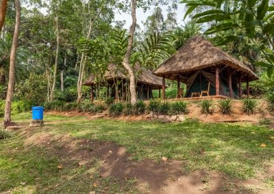Lazy camping am Kibale Forest Camp