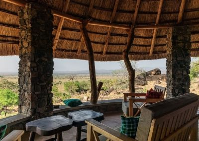 Die einladende Restaurant Kidepo Savanne Lodge