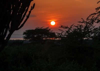 Frühaufsteher werden mit einem beeindruckenden Sonnenaufgang belohnt