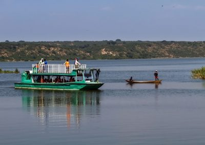 Bootsfahrt auf dem Kazinga Kanal